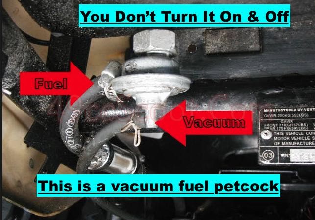 how to diagnose a rich condition scooter motorcycle fuel petcock vacuum