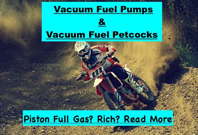 DIY diagnose running rich scooter gy6 quad atv chinese generator vacuum fuel pump vacuum fuel petcock how they fail and how they can cause everything from a no start to a running to rich. piston full of gas