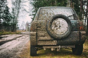 car shakes after getting stuck in the mud make sure to check rims for dried mud