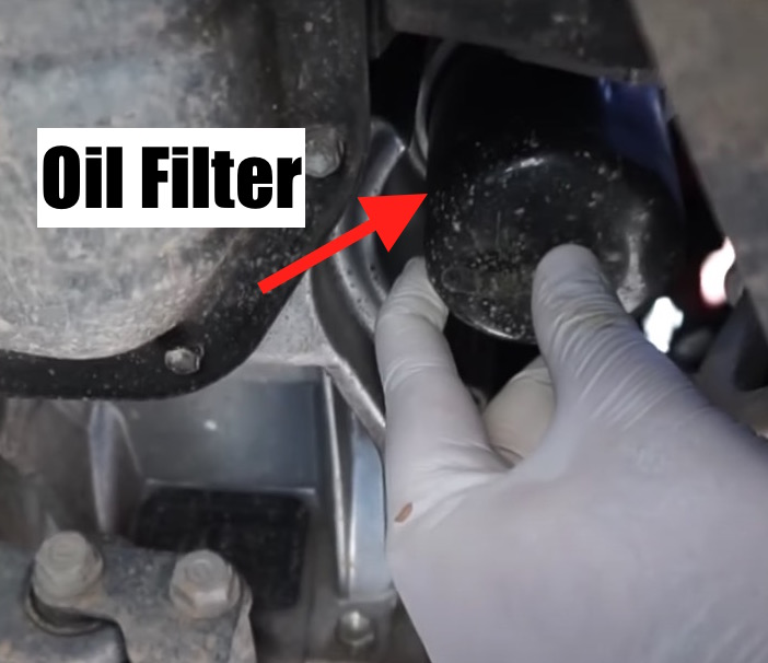 where is oil filter 2004-2009 prius