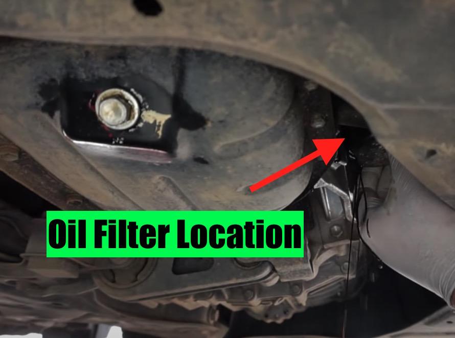 oil filter location toyota prius 2004-2009
